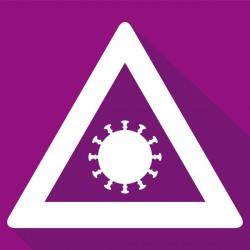 Cartellonistica di cantiere / Pittogrammi COVID-19 / Selezione UNI EN ISO 7010